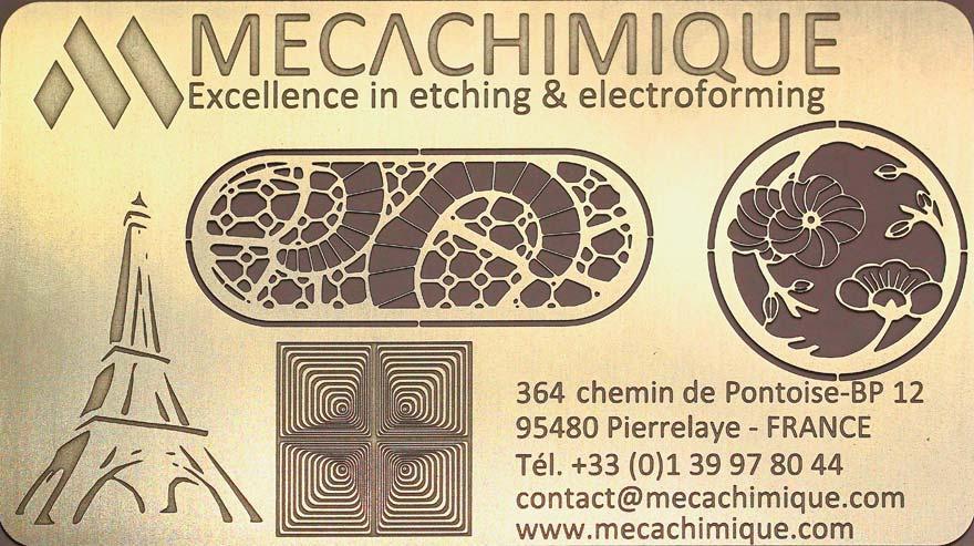 carte de visite métallique